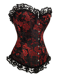 Hot Sales  Flower Corset With T-String Comfortable crisp Beautiful