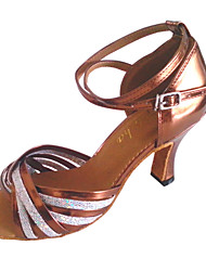 Women's Leatherette Dance Shoes For Latin And Salsa Customizable