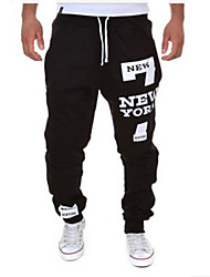 cheap -Men's Active Basic Cotton Loose Sweatpants Pants - Letter
