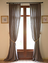 cheap -Curtains Drapes Living Room Solid Colored Linen Hollow Out