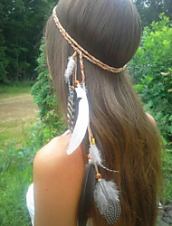 cheap -Feather Headband Feather Necklace,Feather Belt,Weave Bohemian Headband,Native American,Braided Headband,Indian Headband