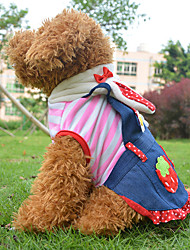 Cães Fantasias / Roupa / Vestidos Rosa Roupas para Cães Primavera/Outono Corações / Fruta Fantasias / Dia Das Bruxas
