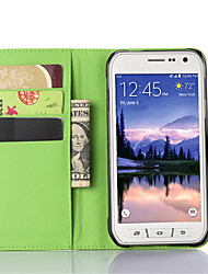 cheap -DE JI Case For Samsung Galaxy Samsung Galaxy Case with Stand / with Windows Full Body Cases Solid Colored PU Leather for S6 Active / S5 Mini / S5 Active