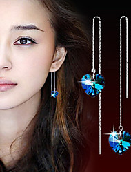 Women's Drop Earrings Crystal Silver Plated Jewelry For