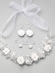 Недорогие -Белый Кристалл Комплект ювелирных изделий - Включают Белый Назначение Свадьба Для вечеринок Особые случаи / Годовщина / День рождения / Обручение