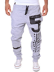 cheap -Men's Active Basic Cotton Loose Active Sweatpants Chinos Relaxed Pants - Print Letter