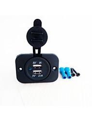 YuJie  Double USB Car Charger Socket   Input:12V-24V  Output: 5V 3.1A