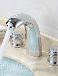 diffuso due manici tre fori cromata lavandino rubinetto del bagno