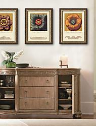 economico -Botanica Floreale/Botanical Vintage Tele con cornice Set con cornice Decorazioni da parete,PVC Materiale con cornice For Decorazioni per