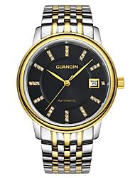 ieftine -bărbați guanqin automatic ceas cu diamante 100m calendar safir rezistent la apa ceas automatic 40.5mm oțel încheietura mâinii de cristal
