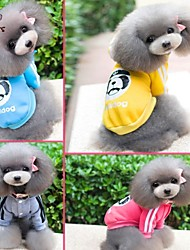 cheap -Cat Dog Jumpsuit Dog Clothes Cartoon Gray Yellow Rose Blue Cotton Costume For Pets Men's Women's Fashion Sports