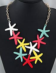 Недорогие -Жен. Заявление ожерелья - морская звезда европейский, Мода Цвет экрана Ожерелье Бижутерия Назначение