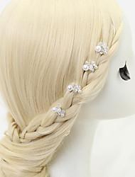 billige -Krystal / Imiteret Perle / Legering Hair Pin med 1 Bryllup / Speciel Lejlighed Medaljon