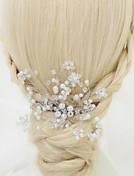 preiswerte -kristall imitation perle legierung haar kämme kopfstück eleganten stil
