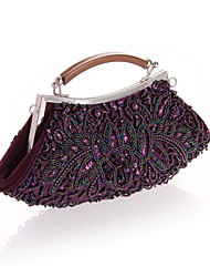 Women Bags All Seasons Polyester Evening Bag Crystal/ Rhinestone for Wedding Event/Party Casual Gray Purple Red Khaki Light gray