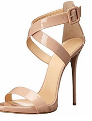 cheap -Women's Shoes Leatherette Stiletto Heel Open Toe Sandals Office & Career / Party & Evening / Dress Beige