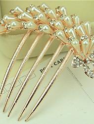 abordables -adornos de alto grado de Corea del Sur en los peines giro diamante perla broche de pelo de la Phoenix