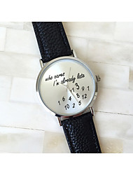 3 Colors Who Cares I'am Late Anyway Watch Leather Strap Women Watch Quartz Word Watch Mujer Cool Watches Unique Watches