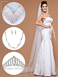 accessori da sposa set (velo& guanti& copricapo& collana& orecchini)