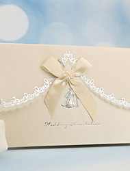 cheap -Side Fold Wedding Invitations 50-Invitation Cards Pearl Paper