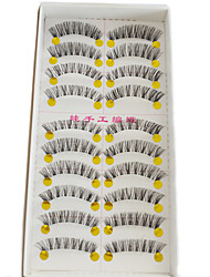 cheap -10 pairs Eyelashes lash Others Eyes Crisscross / Natural Long / The End Is Longer Extended / Lifted lashes / Natural / Curly Handmade