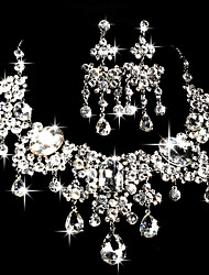 cheap -Women's Rhinestone Wedding Party Special Occasion Anniversary Engagement Gift Rhinestone Alloy Earrings Necklaces