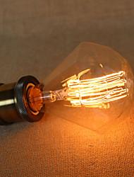 cheap -E27 40w Diamond G95 Straight Edison Bulb Wire Large Bulb Pendant Bar with a Retro Light Source
