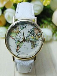 cheap -Men's Wrist Watch Hot Sale PU Band World Map Black / White / Green / SSUO 377