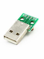 Недорогие -USB мужчина к падению 2.54 4-контактный модуль - зеленый