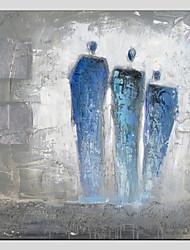 povoljno -Ručno oslikana Ljudi Kvadrat, Europska Style Moderna Platno Hang oslikana uljanim bojama Početna Dekoracija Jedna ploha