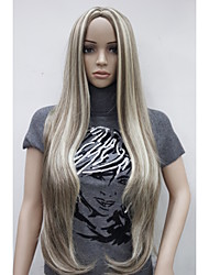 cheap -Women Synthetic Wig Blonde Very Long Straight Highlighted/Balayage Hair Middle Part Natural Wigs Costume Wig