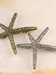 abordables -al sur de la venta de Corea como pan caliente estrellas de mar pinzas para el cabello de metal retro
