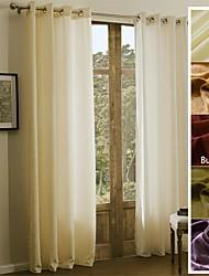 Недорогие -1 панель Окно Лечение Деревенский Modern Средиземноморье Барроко европейский Оригинальный рисунок , Однотонный Гостиная Полиэстер материал