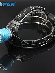 1 Pandelamper Forlygte LED 2000 lm 3 Tilstand Cree XM-L T6 med batterier og oplader Zoombar Justerbart Fokus Genopladelig