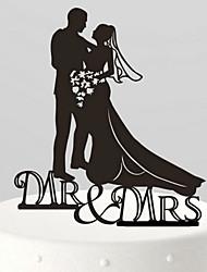 papiret bruden og brudgommen kysse kage topper-3 bryllup modtagelse