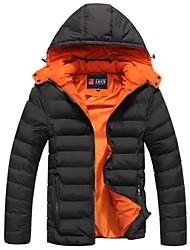 preiswerte -Gefüttert Mantel,Standard Normal Formal Arbeit Übergröße Solide-Baumwolle Baumwolle Langärmelige