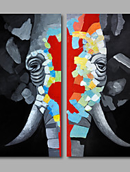 economico -Dipinta a mano Pop Art Verticale, Modern Tela Hang-Dipinto ad olio Decorazioni per la casa Due Pannelli