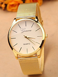Gold Strap Watch Full Stainless Steel Woman Fashion Dress Watches New Brand Name Geneva Quartz Watch Best Quality Cool Watches Unique Watches