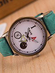 cheap -Men's Wrist Watch Hot Sale / / Leather Band Vintage / Casual Black / White / Blue
