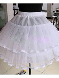 cheap -Wedding Special Occasion Daily Slips Tulle Netting Knee-Length Ball Gown Slip With Lace-trimmed bottom