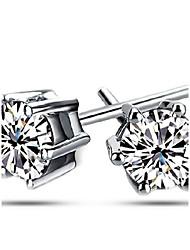 preiswerte -Damen / Herren / Unisex Ohrring Silber / Kubikzirkonia Kubikzirkonia Stud Earrings