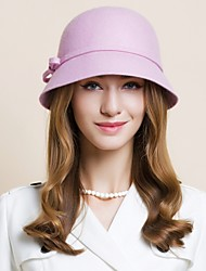 Women's Wool Headpiece-Wedding Special Occasion Casual Office & Career Outdoor Hats 1 Piece