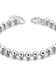 abordables -Femme Charmes pour Bracelets Bracelets Vintage simple Argent sterling Balle Bijoux Cadeau Quotidien Décontracté Sports Bijoux de fantaisie