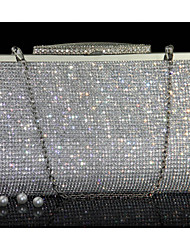 cheap -Women's Bags Other Leather Type Evening Bag Crystals Gold / Silver