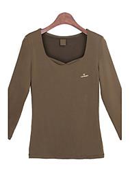 baratos -Mulheres Camiseta Vintage Sólido