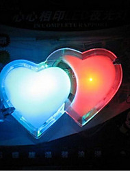 Double Love Coloured LED Night Lights
