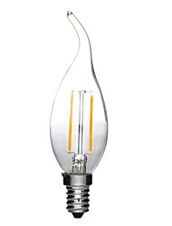 cheap -1pc 2W E14 LED Filament Bulbs CA35 2 High Power LED 180lm Warm/Cold White Decorative AC220-240V