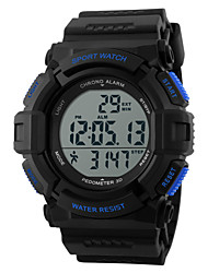 cheap -SKMEI Men's Sport Watch / Wrist Watch / Digital Watch Heart Rate Monitor / Alarm / Calendar / date / day Rubber Band Charm Black / Chronograph / Water Resistant / Water Proof / LCD / Two Years