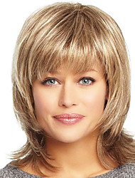 Unique Layered Human Virgin Remy Medium Length Hand Tied Top Female Hair Wigs