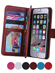 cheap -Magnetic 2 in 1 Wallet Leather+9 Card Holders+Cash Slot+Photo Frame Phone Case for Apple iPhone 6 Plus/ 6S Plus